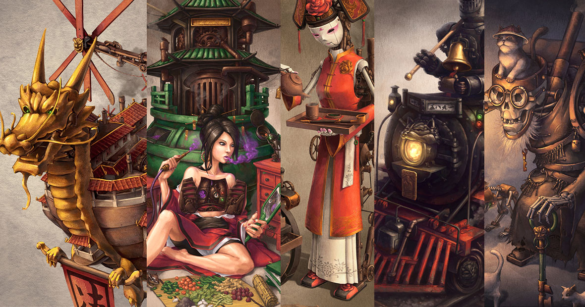 Imperial Steam and Light Chinese steampunk series from illustrator James Ng.