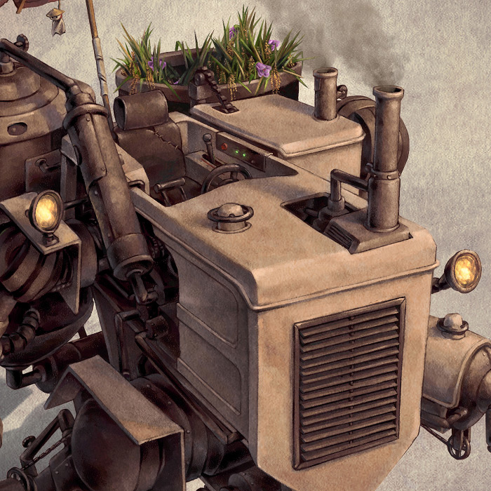 Detail of Chinese steampunk Harvester.