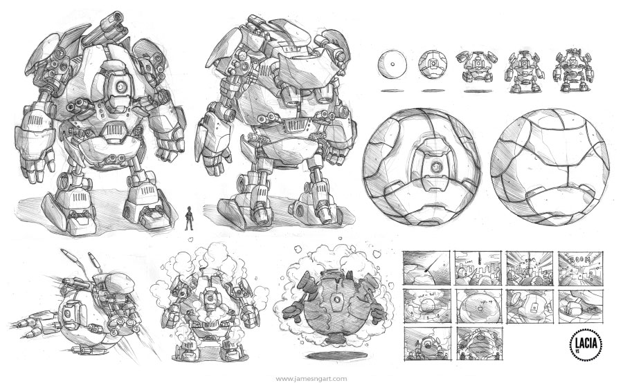 Design A Car Game >> James Ng Art: Scifi Robots