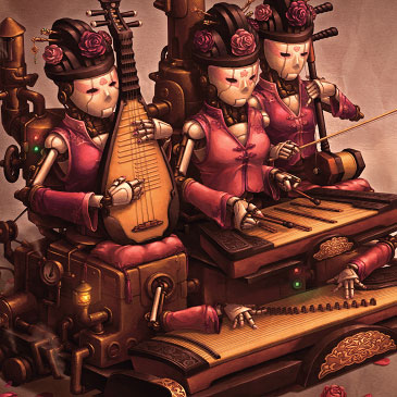 Court Band steampunk concept art.