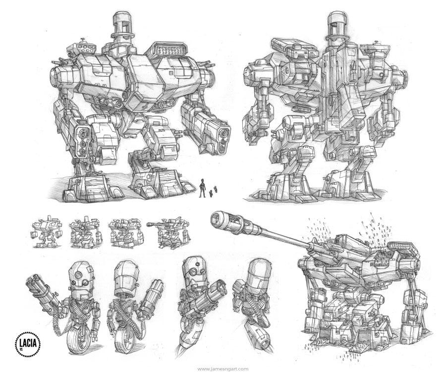 James Ng Art Scifi Robots